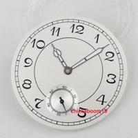38.9mm White Watch Dial+Luminous Hands Arabic Numerals Fit For ETA 6498 Movement