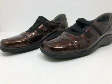 HELLE ROMUS Loafer Shoe Womens COPPER Patent Leather Suede ABSORB FLY Soles Sz 8