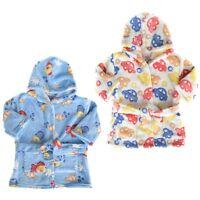"""Filles bébé nourrissons bébé à capuche /& ceinture peignoir robe de chambre/"""" 3 dessins/"""""""