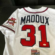 Greg Maddux Signed Authentic 1996 Atlanta Braves Game Model Jersey With JSA COA
