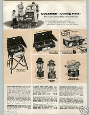 1958 PAPER AD Coleman Lantern Stove Mantle Sportsmaster Gas Picnic Folding