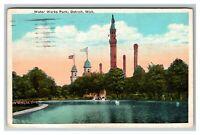 Vintage View of Water Works Park, Detroit MI c1925 Postcard L19