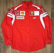 Ferrari Formula 1 F1 Team very rare long sleeve Puma shirt size S