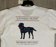 Southern Proper Mens Original Party Animal T-Shirt Red White Blue Dog Graphic XL