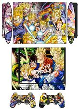 Skin Sticker PS3 PlayStation 3 Super Slim & 2 controller skins Dragon Ball Q272