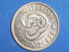 1953 1/- Australian Silver  One Shilling QUEEN Elizabeth II  (very Nice)