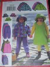 BUTTERICK #5717 - GIRLS WINTER WARDROBE & HAT - GREAT FOR FLEECE PATTERN  6-8 FF