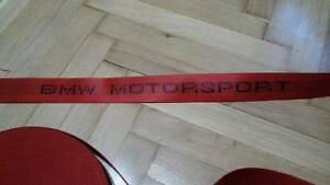 RED MOTORSPORT SEAT BELTS for BMW E30/E34/E36/M3 M5 MPower ALL BMW ONLY WEBBING