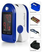 AccuMed CMS-50DL Fingertip Pulse Oximeter Finger Pulse SpO2 Monitor Blue