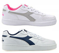 DIADORA PLAYGROUND GS scarpe donna stan sportive smith sneakers pelle bianco