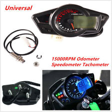 Universal Motorcycle Dirtbike 15000RPM LCD Odometer Speedometer Tachometer Gauge