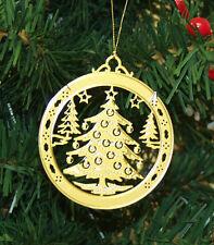 Personalized Christmas Tree High Polished Brass Christmas Ornament Custom Gift