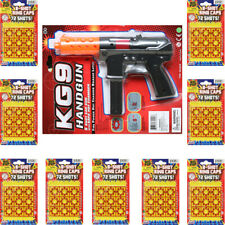 Super Bang Ring Caps 9 Packs + 1 Cap Gun Toys - 8 Shots Fires 648 shots Bundle