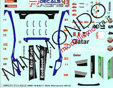 DECALS FORD FIESTA RS WRC RALLY MONTECARLO 2013 1/43 RACING DECALS 43 RDR027