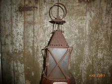 Antique Primitive Whale Oil Hanging Lantern AAFA