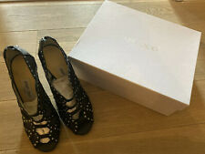 Authentic Jimmy Choo Black Studded Sandals Size 38