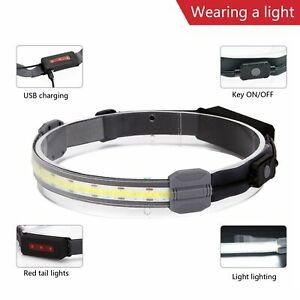 Head Lamp Soft Light Head-mounted Stable Modern for Hiking