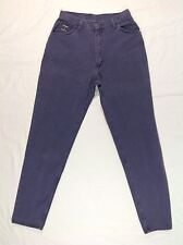 Vintage WRANGLER Purple High Waisted Tapered Jeans 80's 90's Sz 12 High Rise EUC