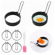 2/4Pcs Nonstick Stainless Steel Egg Pancakes Maker Molds Ring Handle Round
