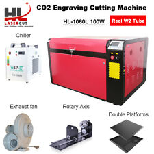 Reci 100W Laser Cutter Engraving Machine&CW5000 Chiller&390MM Lift Linear Guide