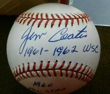 JIM COATES Autographed Rawlings Official AL Baseball
