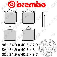 07BB33.SC COPPIA PASTIGLIE FRENO BREMBO ANTERIORE APRILIA RSV NERA 1000 04>