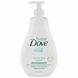 Baby Dove Sensitive Skin Care Baby Wash 20oz For Baby Bath Time Fragrance Fre...