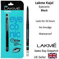 LAKME EYECONIC KAJAL PENCIL EYELINER -Waterproof, No Smudge, Safe - 0.35g- BLACK