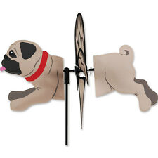 "PUG--Fawn-- Petite Garden Wind Spinner by Premier Kites & Designs-16"" L"