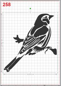 Beautiful Sparrow Bird Stencil MYLAR A4 sheet strong reusable Art Craft WallDeco