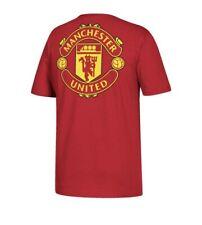 Manchester United Adidas Alternate Stripe Logo Tee Double Sided Choose Size