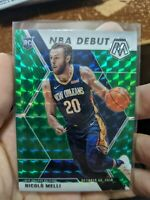 2020 Mosaic Nicolo Melli (5x) Card Lot NBA Debut Green Prizm New Orleans RC Rook