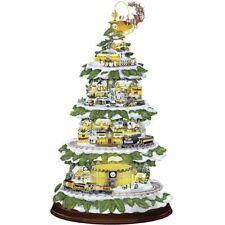 Bradford Exchange Pittsburgh Steelers Village Christmas Tree Trains Sound Lights