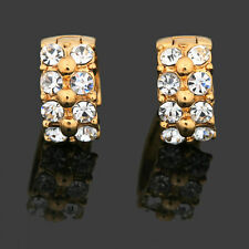 Rose Gold Filled Crystals Wedding Huggies Earring IE74