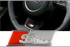 Logo Audi SLine S Line Volante  wheel Altavoces Emblema Sticker Adhesivo 3M