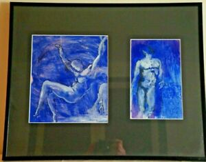 Paul Hemery (1921-2006) - 2 Paints With ' Oil On Paper - Signed