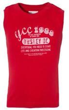 T-shirts, débardeurs et chemises rouge sans manches pour garçon de 2 à 16 ans en 100% coton