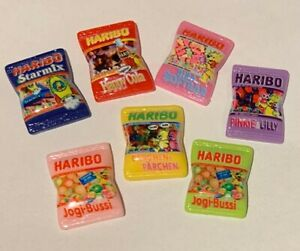Dolls House Miniature Set of 3 Resin Sweet Packets - 3 Random Colours Sent SK121