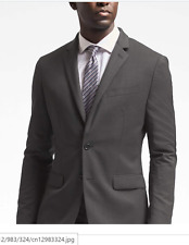 NWT BANANA REPUBLIC SLIM SOLID CHARCOAL WOOL SUIT ( ALL SIZES ) 2017 COLLECTION