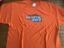 beastie boys t-shirt vintage Five 5 boroughs Xxl 90's Orange rare 31� Long