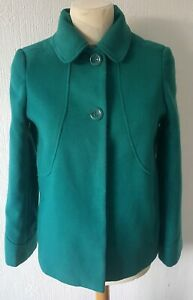 ELEGANZE GREEN WINTER COAT FULLY LINED UK 12 IN LOVELY CONDITION