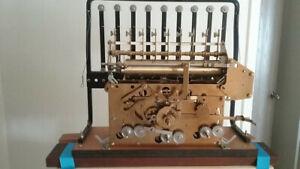 Urgos 9 tube Grandfather Clock movement Intact model UW0342B