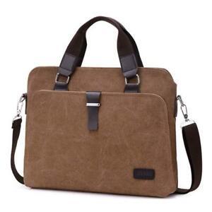 Canvas Handbag Men Briefcase 14 inch Laptop Bag Shoulder Bag Messenger Bag