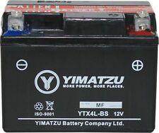 Yimatzu GTX4L-BS Battery Replaces YTX4L-BS, PTX4L-BS, ETX4L-BS, YTX4L, YT4L