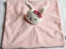 TESCO F&F PINK BUNNY RABBIT BLANKIE Comforter Soft Toy NEXT DAY POST