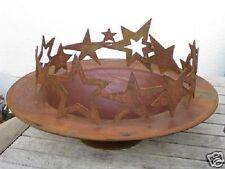 Edelrost Ring Sterne Advent Dekoration für Schale 30 Tisch Garten Terrasse Stern