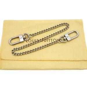 Authentic LOUIS VUITTON Wallet Chain Strap Silver Tone Matte #S404131