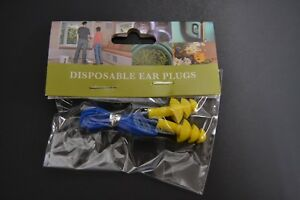 OSH TRI FLANGE Disposable EAR PLUGS WITH CORD YELLOW with Blue Cord (Bin2)