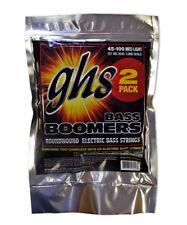 GHS Strings ML3045-2, 4 String Bass Boomers, Medium Light, 2 Pack (.045-.100)