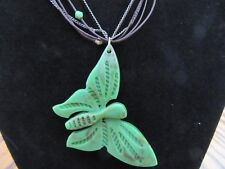Nine West Vintage Butterflies Brown Greens Silvertone Necklace NWT Really Cute!!
